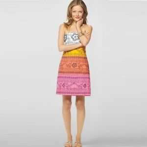 LILLY PULITZER BOWEN EMBROIDERED PAISLEY DRESS